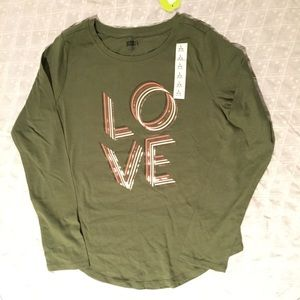 NWT.  Crazy 8 graphic tee for girls